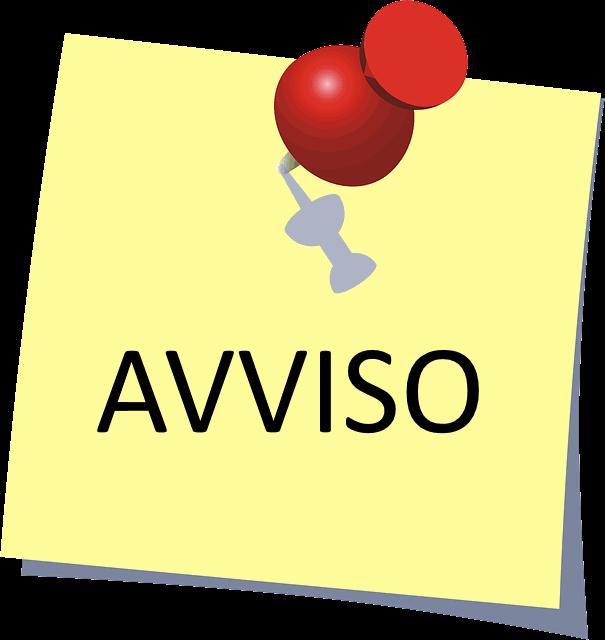 post it 'Avviso'